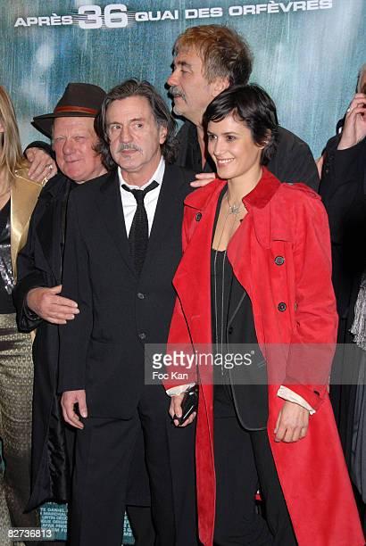 Philippe Nahon Daniel Auteuil Olivia Bonamy Olivier Marchal attend the MR73 Paris Premiere at the Gaumont Marignan on March 10 2008 in Paris France