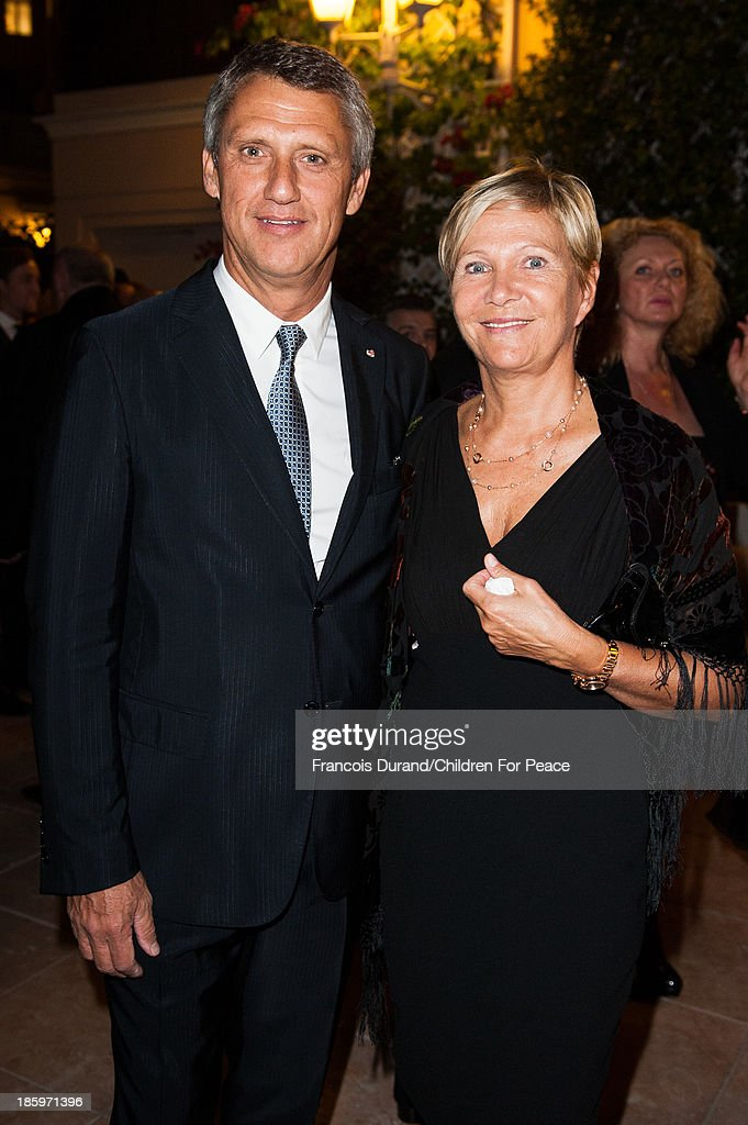Philippe Narmino and his wife attend the 'Opera Romeo and Juliette' : Gala to the benefit of the The Children for Peace association, on October 26, 2013 in Monte-Carlo, Monaco.
