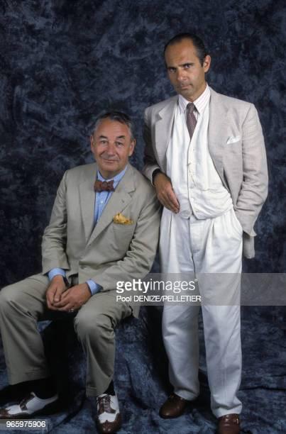 Philippe Noiret et Guy Marchand, acteurs français, le 13 septembre 1987 en France.