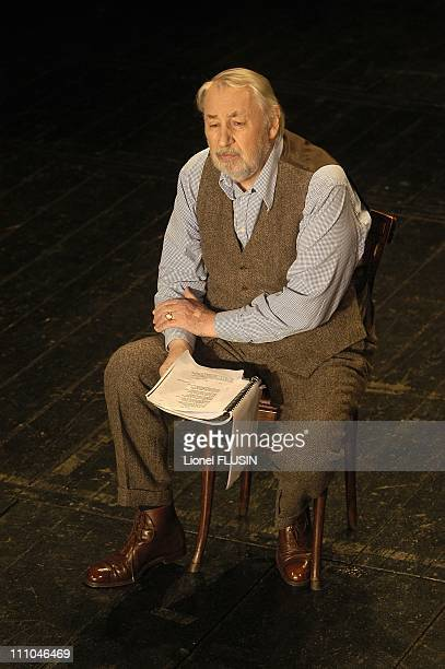 Philippe Noiret in the 'Les Contemplations' of Victor Hugo in Divonne les Bains France on January 26 2004