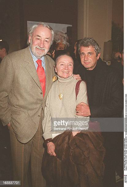 Philippe Noiret wife Monique Chaumette Michel Boujenah birthday party at Elysees Biarritz club in Paris
