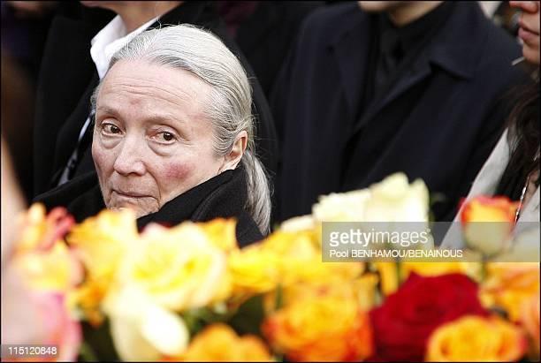Philippe Noiret's funeral at the Basilica of Saint Clotilde in Paris France on November 27 2006 Monique Chaumette
