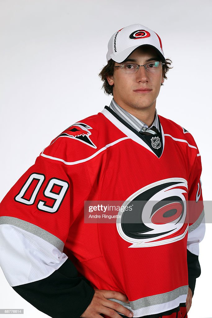 Philippe Paradis poses for a portrait after being selected 27th overall by the Carolina Hurricanes during the first round of the 2009 NHL Entry Draft at the Bell Centre on June 26, 2009 in Montreal, Quebec, Canada.