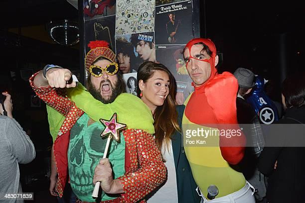 Philippe Pasquini Lola Dewaere and Nicolas Ullmann attend the 'HMan' TV Serial Release Party At The Bus Palladium on April 5 2014 in Paris France