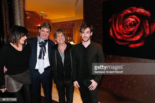 Philippe Perrot Arthur Aubert with his father singer JeanLouis Aubert and his mother France Aubert attend the Arthur Aubert Exhibition private view...