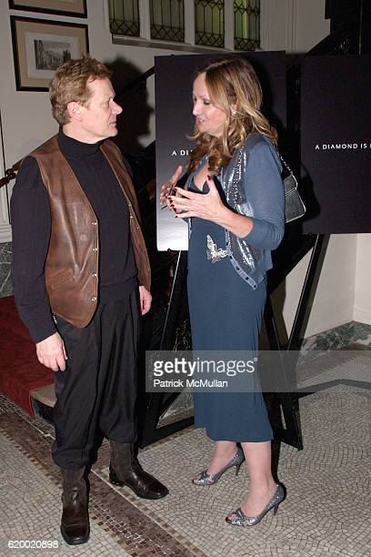 Philippe Petit and Sally Morrison attend A DIAMOND IS FOREVER 2008 Gotham Independent Film Awards After Party at Downtown Association on December 2...