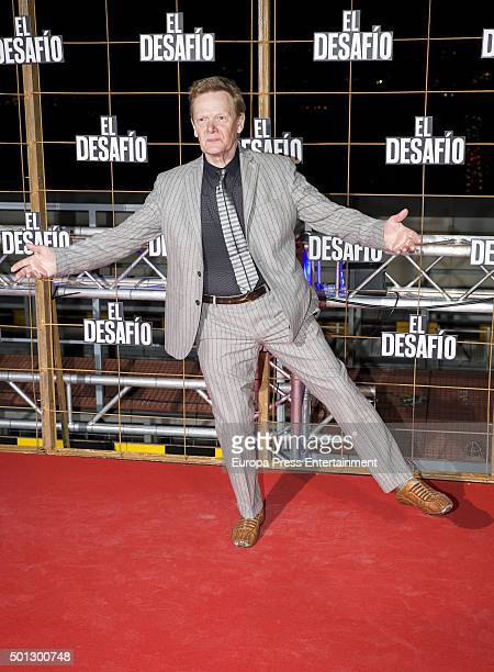 Philippe Petit attends 'El Desafio' premiere on December 10 2015 in Madrid Spain
