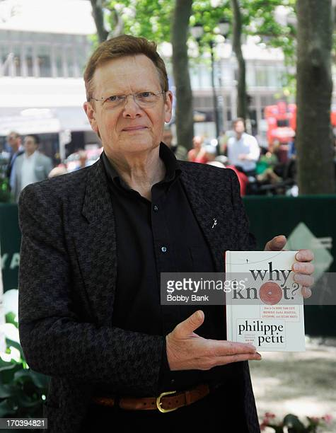 Philippe Petit promotes Why Knot at The Bryant Park Reading Room on June 12 2013 in New York City
