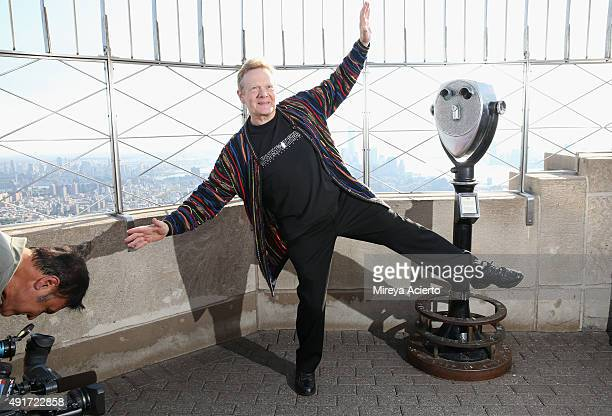 Philippe Petit visits The Empire State Building on October 7 2015 in New York City