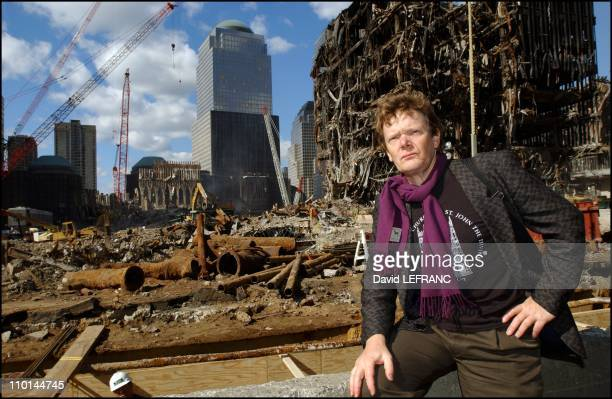 Philippe Petit world famous highwire artist visits Ground Zero on October 17 the site where the Twin Towers once stood where he performed a high wire...
