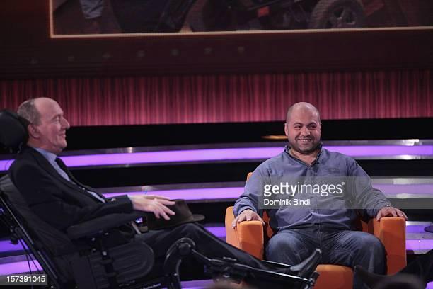 Philippe Pozzo di Borgo and Abdel Yasmin Sellou attend 'Menschen 2012' Show Taping on December 2 2012 in Munich Germany