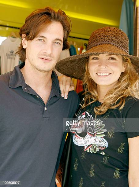 Philippe Reynaud and Cindy Taylor during GAP Rock Color Bus Tour May 11 2006 at The Grove in Los Angeles California United States