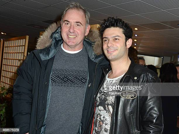 Philippe Risoli and Gregory Bakian attend the 'Sourire Gagnant' Charity Event to Benefit 'Enfant Star Et Match' At Sporting Tennis Club on February...