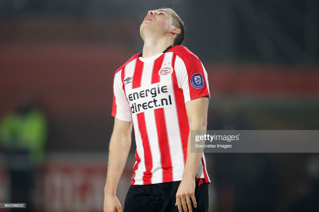 Philippe Rommens of PSV U23 Disappointed during the Dutch Jupiler League match between PSV U23 v Helmond Sport at the De Herdgang on January 12, 2018 in Eindhoven Netherlands