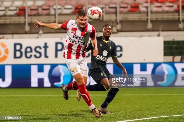 Philippe Rommens of TOP Oss scores the third goal to make it 2-1 during the Dutch Keuken Kampioen Divisie match between TOP Oss v Telstar at the...