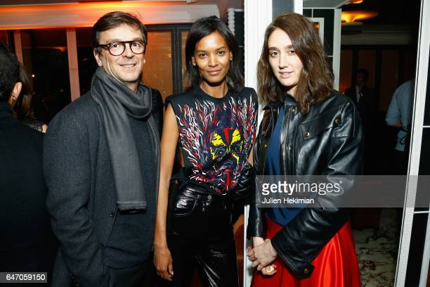 Philippe Rousselet Liya Kebede and Natacha RamsayLevi attend the Mastermind Magazine launch dinner as part of Paris Fashion Week Womenswear...