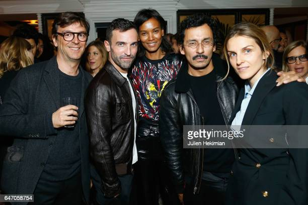 Philippe Rousselet Nicolas Ghesquiere Liya Kebede Haider Ackermann and Gaia Repossi attend the Mastermind Magazine launch dinner as part of Paris...
