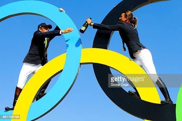 Philippe ROZIER and Penelope LEPREVOST of France during Equestrian on Olympic Games 2016 in Rio at Olympic Equestrian Centre on August 17 2016 in Rio...