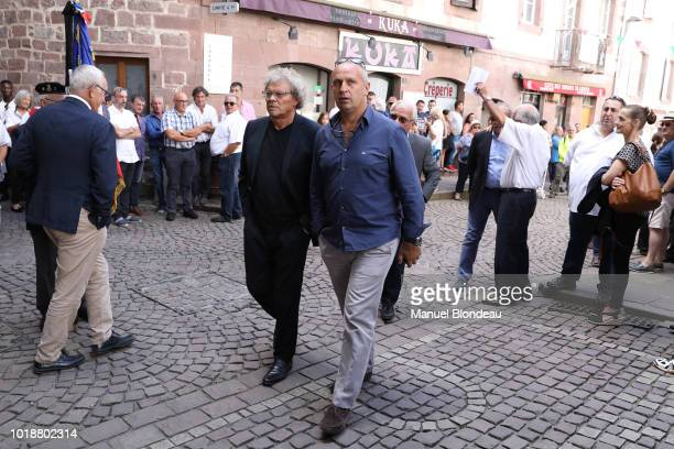 Philippe Saint Andre is seen at the burial of Pierre Camou in Saint Jean Pied de Port during the Funeral of former rugby player Pierre Camou on...