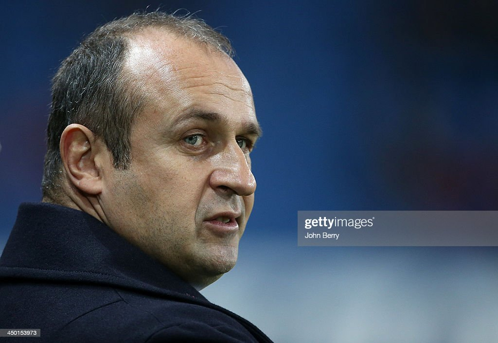 Philippe Saint-Andre, head coach of France looks on during the international match between France and Tonga at the Oceane Stadium on November 16, 2013 in Le Havre, France.
