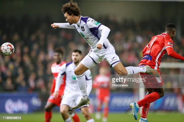 Philippe Sandler defender of Anderlecht during the Croky Cup 1/8 final match between Excelsior Mouscron and RSC Anderlecht at the Le Canonnier...