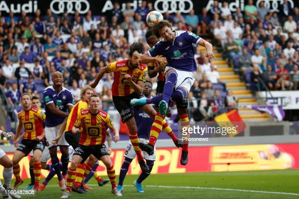 Philippe Sandler defender of Anderlecht pictured during the Jupiler Pro League match between RSC Anderlecht and Kv Mechelen at the Lotto Park stadion...
