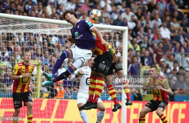 Philippe Sandler of Anderlecht in action during the Jupiler Pro League match between RSC Anderlecht and KV Mechelen at Lotto Park on August 9, 2019...