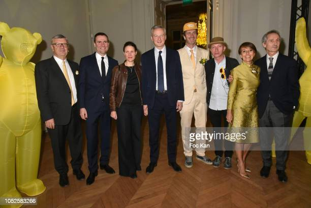 Philippe Savinel Alexandre Ricard chairman and CEO of Pernod Ricard Pauline Lemaire and Agriculture minister Bruno Lemaire Frederic Jousset and...