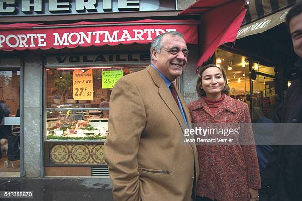 Philippe Seguin and Roxane Decorte chief candida te in the 18th District of Paris