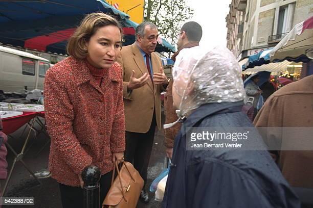 Philippe Seguin and Roxane Decorte chief candida te in the 18th District of Paris