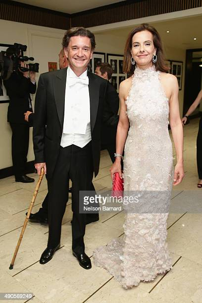 Philippe Sereys de Rothschild and Jury member Carole Bouquet attend the welcome Cocktail party for jury members during the 67th Annual Cannes Film...