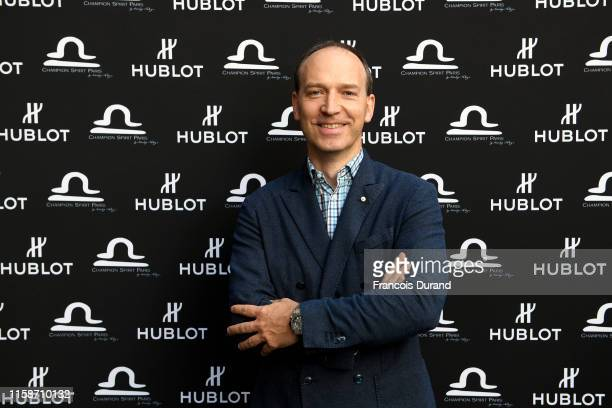 Philippe Tardivel attends the launch of Hublot x Champion Spirit on June 27 2019 in Paris France