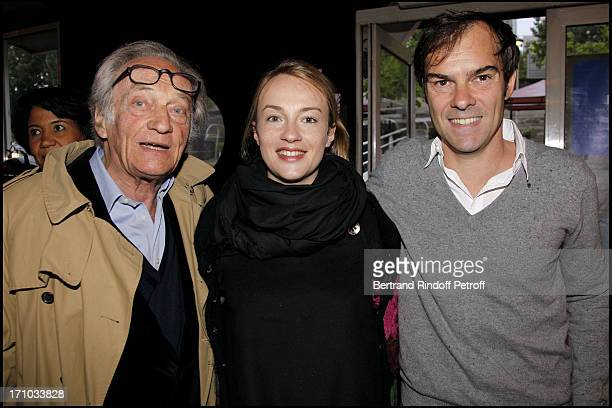 Philippe Tesson and his daughter Daphne and her husband Sebastien Thiery at Launch Of Web Site Of Drunk Driving Awareness Association Ferdinand...