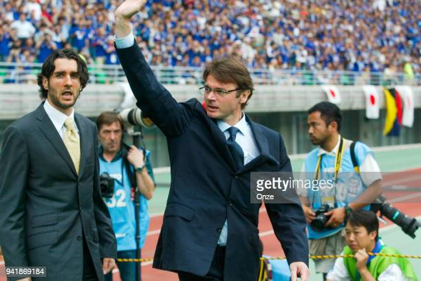 Philippe Troussier head coach of Japan during the World Cup match between Tunisia and Japan on 14th June 2002 at Nagai Stadium Osaka Japan