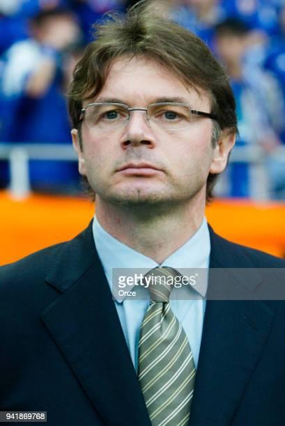 Philippe Troussier head coach of Japan during the World Cup match between Japan and Belgium on 4th June 2002 at Saitama Stadium 2002 Saitama Japan