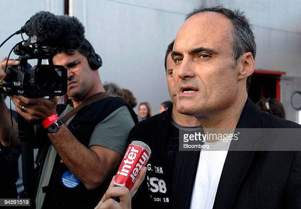 Philippe Val editor and director of Charlie Hebdo as well as coorganizer of the concert against DNA testing speaks to the media prior to the event in...
