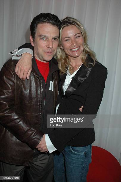 Philippe Vandel and Celine Balitran during 2005 Cannes Film Festival Marc Dorcel Party at VIP Room Cannes Palm Beach in Cannes France