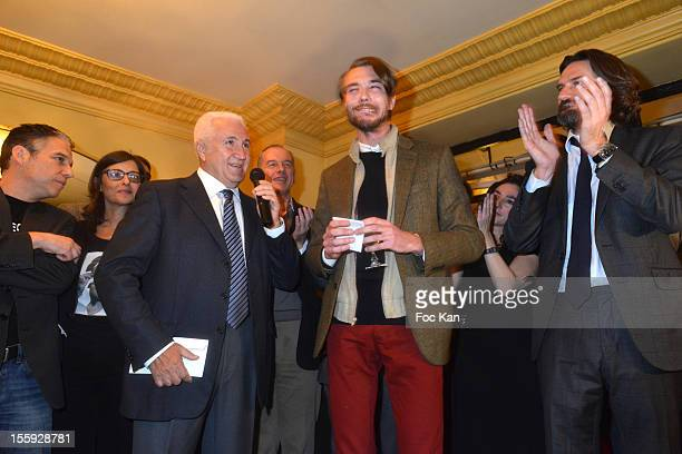 R Philippe Vandel Michele Fitoussi Miroslav Siljegovic Oscar Coop Phane and Frederic Beigbeder attend the 'Prix De Flore 2012' Literary Award...
