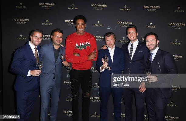 Philippe Vasilescu Kamal Hotchandani Scottie Pippen Ludovic du Plessis guest and Victor Blanquart attend the LOUIS XIII Celebration of '100 Years'...