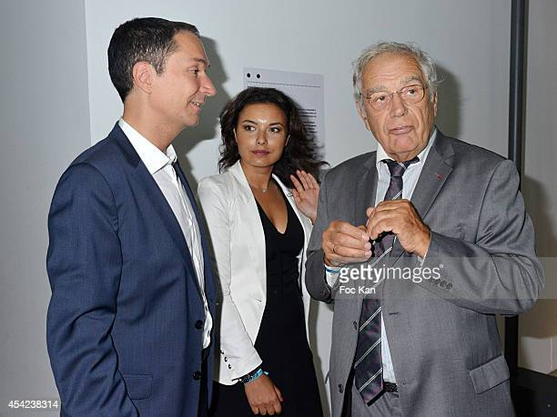 Philippe Verdier Anais Baydemir and Michel Chevalet attend the 'Rentree de France Televisions' at Palais De Tokyo on August 26 2014 in Paris France
