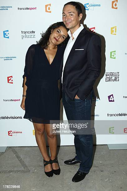 Philippe Verdier and Anais Baydemir attend 'La Rentree France Televisions' at Palais De Tokyo on August 27 2013 in Paris France