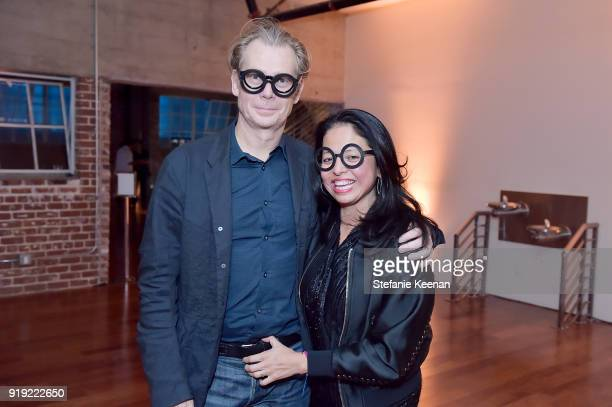 Philippe Vergne and Sylvia Chivaratanond attend Mr Chow 50 Years on February 16 2018 in Vernon California