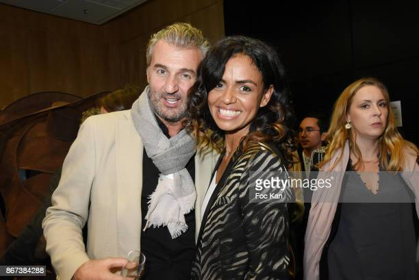 Philippe Vignola and Laurence Roustandjee attend the 'Salon Du Chocolat 2017 Chocolate Fair' Auction Show in Benefit of Mecenat Chirurgie Cardiaque...