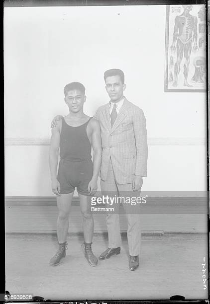 Philippine boys Here in Hopes of Taking Boxing Honors Back with Them Pancho Villa and Elino Flores two boys from the Philippines who are said to be...