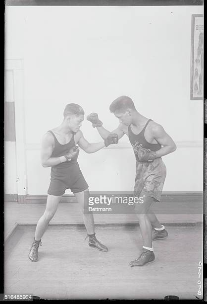 Philippine Boys Here in Hopes of Taking Boxing Honors Back with Them Elino Flores with Pancho Villa