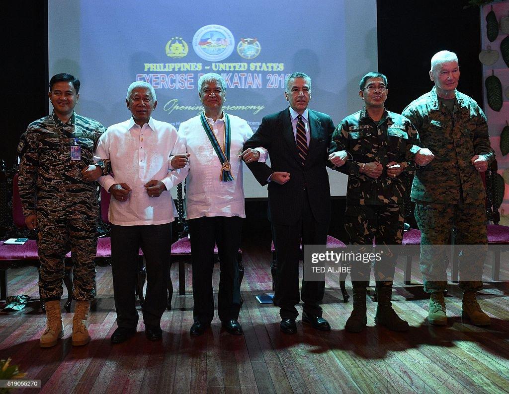 PHILIPPINES-US-CHINA-MILITARY-DIPLOMACY : Nachrichtenfoto