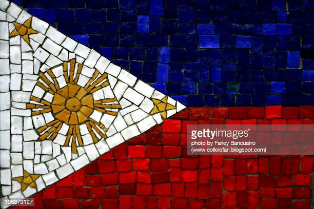 philippine flag  - philippines flag stock pictures, royalty-free photos & images