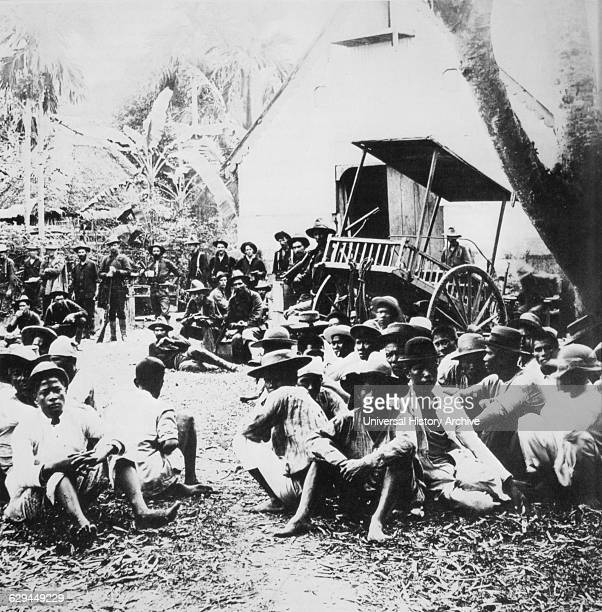 Philippine Insurrectionists Captured by American Troops, Philippines, circa 1900.