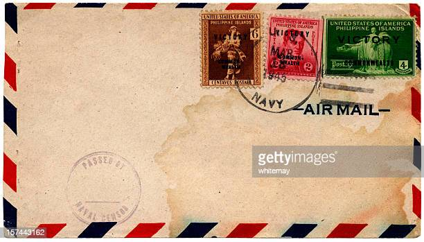 Philippine Islands victory stamps on envelope 1945