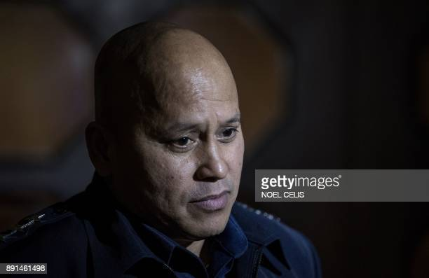 Philippine National Police chief Ronald dela Rosa attends the deliberations to extend Martial Law in Mindanao at the session hall of the House of...